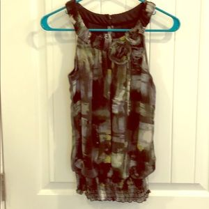 Size S halter top with gathered waist